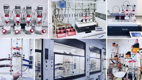 A collage of Radleys' instruments in use at Purolite