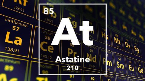 Periodic table of the elements – 85 – Astatine