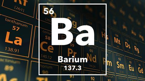 Periodic table of the elements – 56 – Barium