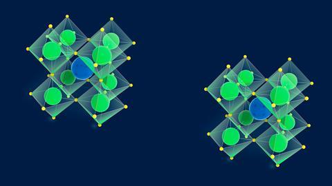 A picture showing perovskite crystal structures