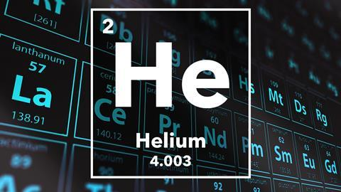 Periodic table of the elements – 2 – Helium