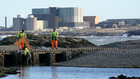 An image of a general view of the Wylfa Nuclear Power Station