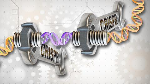 CRISPR-Cas9 tool used for gene editing conceptual image - Hero