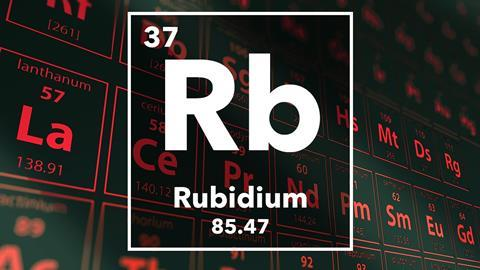 Periodic table of the elements – 37 – Rubidium