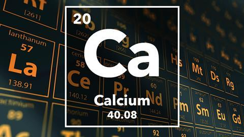 Periodic table of the elements – 20 – Calcium