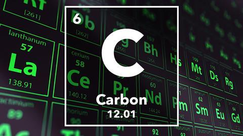 Periodic table of the elements – 6 – Carbon
