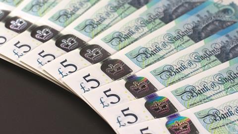 New five pound note 2016 - HERO