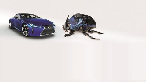 2018 Lexus Inspiration Series and blue Ringo beetle