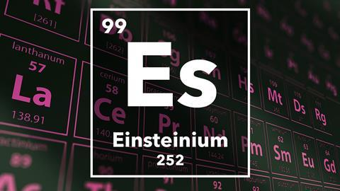 Periodic table of the elements – 99 – Einsteinium