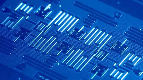 An image showing IBM's superconducting qubits