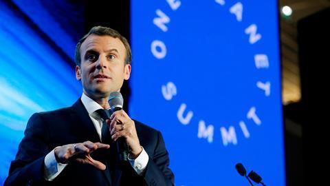 A picture of Emmanuel Macron