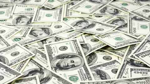 A picture showing lots of US dollar bills