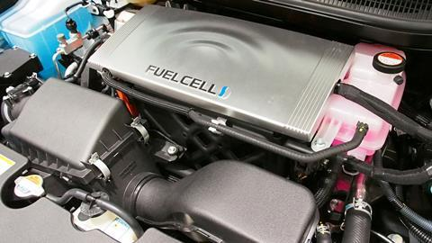 Fuel Cell of Toyota Mirai at Toyota Mega Web in Tokyo, Japan