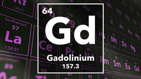 Periodic table of the elements – 64 – Gadolinium