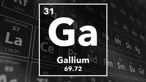 Periodic table of the elements – 31 – Gallium