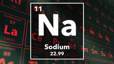 Periodic table of the elements – 11 – Sodium