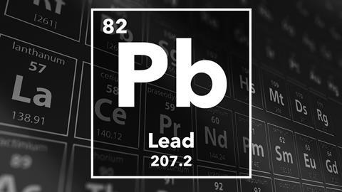 Periodic table of the elements – 82 – Lead