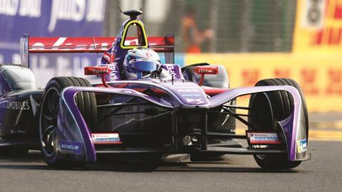 DS Virgin Formula E racing car