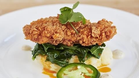 Memphis Meats southern fried chicken dish