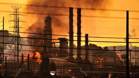 Chevron refinery fire, on 6 August 2012