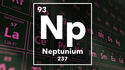 Periodic table of the elements – 93 – Neptunium
