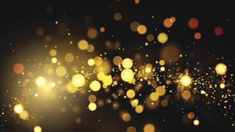 Golden quantum dots abstract