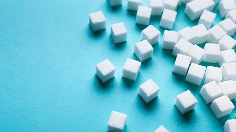 An image showing sugar cubes