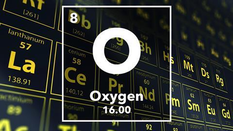 Periodic table of the elements – 8 – Oxygen