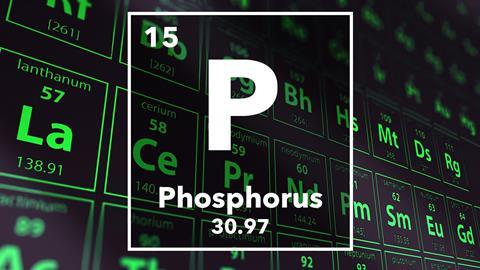Periodic table of the elements – 15 – Phosphorus