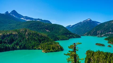 A photograph of Diablo Lake, North Cascades national park, Washington