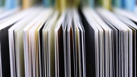 An image showing lots of academic journals