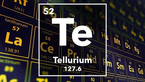 Periodic table of the elements – 52 – Tellurium