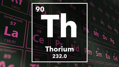 Periodic table of the elements – 90 – Thorium