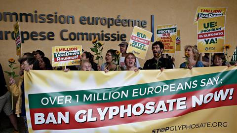 An image showing a glyphosate protest