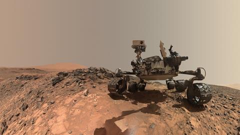 Self-portrait of NASA's Curiosity Mars rover