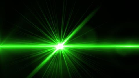 An image of green laser light
