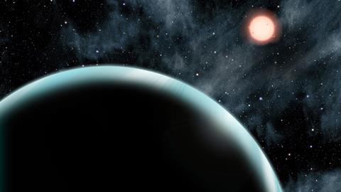 Warm Neptune Has a Primitive Atmosphere of Hydrogen & Helium