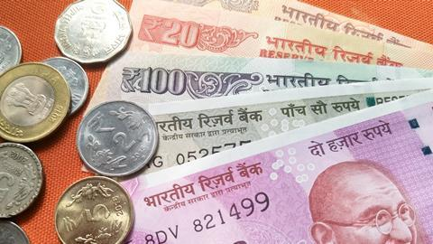 Indian Currency, with new 2000 Indian rupee currency, published on November 9.