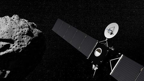 Rosetta passing by an asteroid