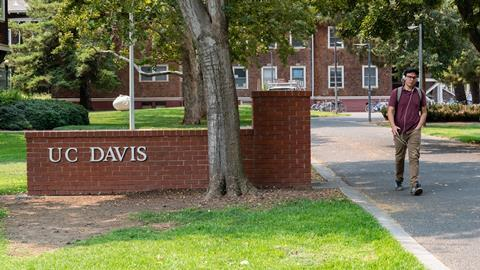 An image showing the UC Davis entrance