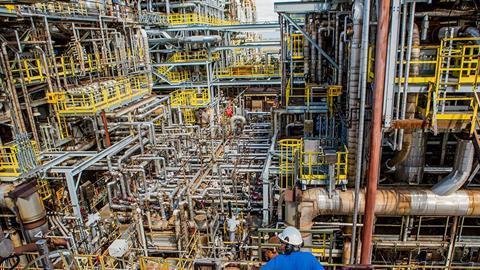 Inside NOVA Chemicals Corunna Site process area