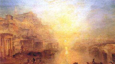 Ancient Italy - Ovid Banished from Rome, J. M. W. Turner, 1838