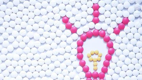 Light bulb made from pills