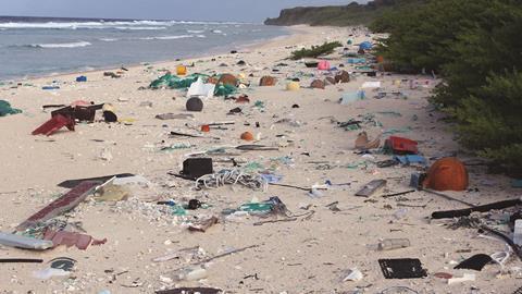 0717CW - Critical Point - Plastic rubbish on Henderson Island, east beach - hero