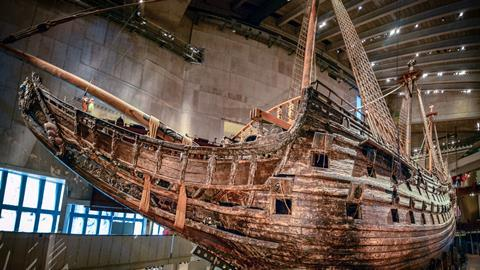 The Vasa, restored and on display at the Vasa Museum in Stockholm