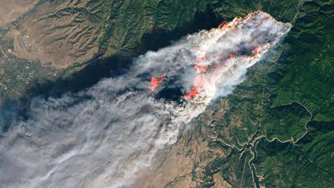 An image showing a camp fire in Northern California