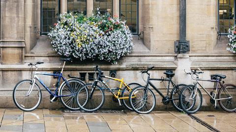 An image showing bikes outside Oxford University