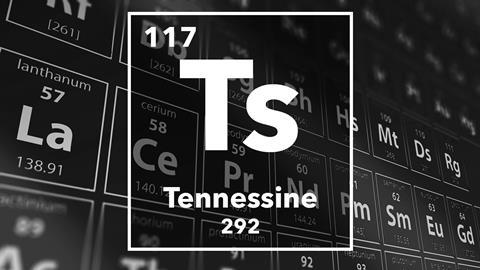 Periodic table of the elements – 117 – Tennessine