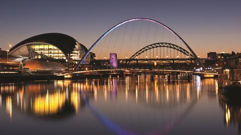 Gateshead Tyne and Millennium bridges, in Newcastle