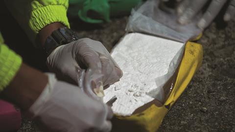0118CW - Trace Analysis - Cocaine brick